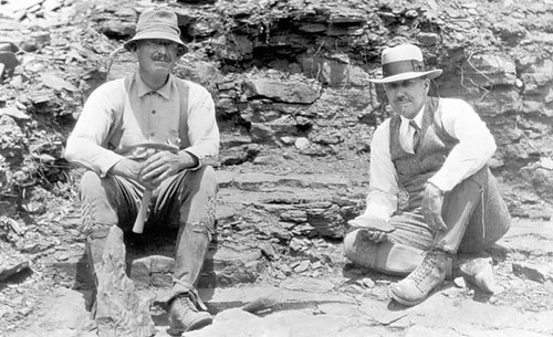 Two white men paleontologists who are being referenced as our usual standard paleontologist