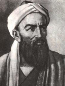 Al-Biruni, a man with a beard wearing a turban